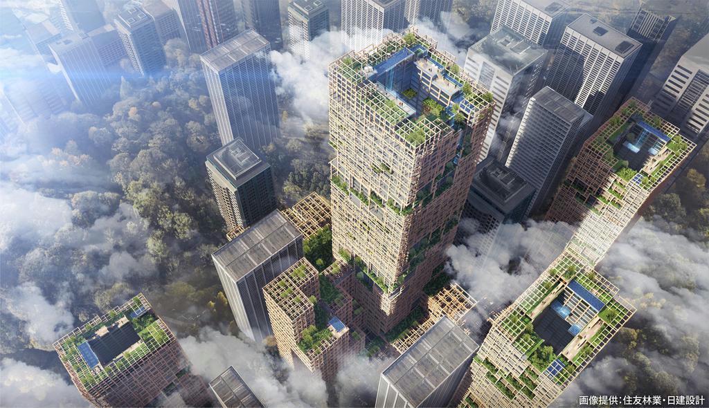 【揺れる森林大国】(下)成長長産業化へ 中高層建築で需要創出