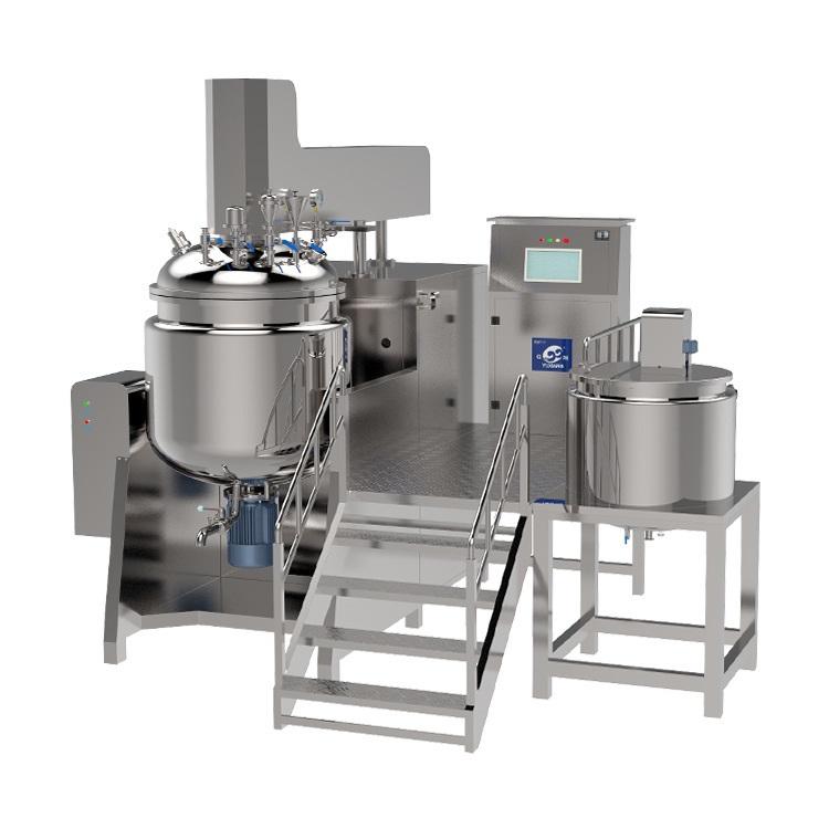 High Shear Sanitary Emulsification Agitator Blenders Cream Homogenizer Cosmetic Equipment